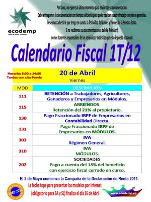 Calendario 1T-2012